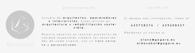 Estudio de arquitectos, aparejadores e interioristas. Especialistas en arquitectura y rehabilitación sostenible.