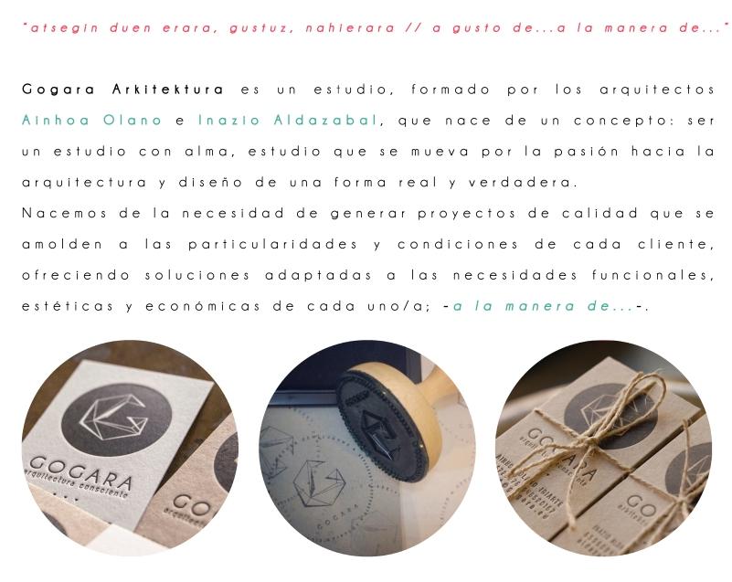 Gogara arkitektura es un estudio con alma que se mueve por la pasión de la arquitectura y diseño